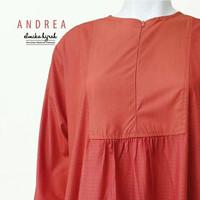Gamis andrea basic orange bata L by elmika hijrah