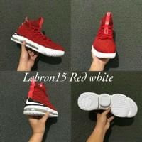 Sepatu basket Nike Lebron 15 Red White (Grade Original) Murah