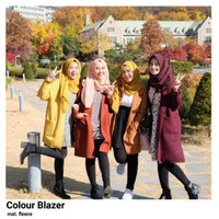 COLOUR BLAZER / LONG BLAZER / LOONG SLEVE / COAT / OUTER / FLEECE