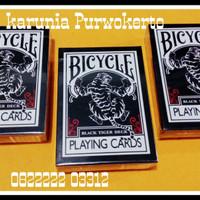 BICYCLE BLACK TIGER CUSTOM DECK USA KARTU KOLEKSI POKER NORMAL