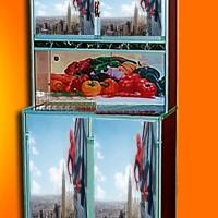 stiker rak piring 2 pintu Spiderman