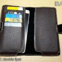 Samsung A8+ A8 Plus 2018 Dompet / Sarung Hp Smartphone Model Double