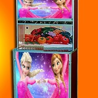 stiker rak piring 2 pintu frozen