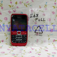 Casing Fullset Depan Belakang Nokia E63 - Cover Tutup Case Backdoor