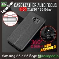 Case Leather Auto Focus Original Samsung Galaxy S6 Edge G925F Softcase