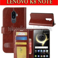 Flip Cover Lenovo K8 Note Leather Case Wallet Card