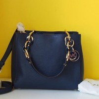 Tas wanita Hand Bag Michael Kors MK Cynthia Navy