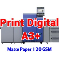 Print Digital A3  32.5 x 48.5 cm - Matte Paper 120 GSM