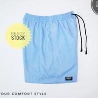 jual celana olahraga pendek / celana pendek pria terbaru - blue sky