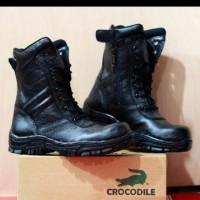 SALE Sepatu Boots PDH PDL TNI POLRI Crocodile Boot Safety Ujung Besi
