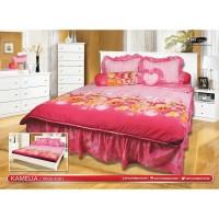 My Love - Bed Cover Set Rumbai King 180x200cm Tinggi 30cm motif Kameli