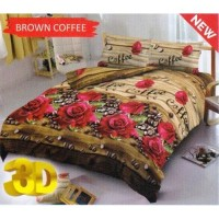 Sprei King Kintakun 3D Santika Deluxe / D'luxe Brown Coffee
