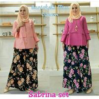 Busana Muslim Wanita-Baju Setelan Sabrina Set-Model Terbaru