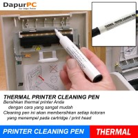 Thermal Printer Cleaning Pen - White