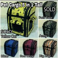 pet cargo 5in1 tall tas hewan ransel pet carrier tas kucing pet bag