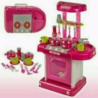 toko mainan anak MAINAN ANAK KITCHEN SET KOPER PINK grosir mainan edu