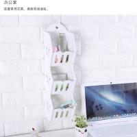 Storage Decorative Rack Shabby chic rak kosmetik hp remote dll A518