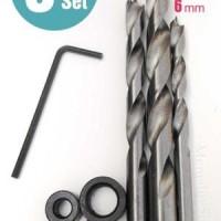 Mata bor set 3pcs untuk pocket hole jig Silverline 6mm 8mm 10 Terjamin