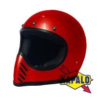 Helm Cakil Vespa Motocross Replika Bell Moto3 moto4 moto 3 red Bomb