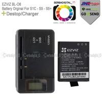 Action Camera Destop/Charger Battery Orginal For Ezviz S1c,S5,S5+