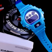 Jam Tangan Pria Casio G-SHOCK DW6900CB-2 LIGHT BLUE Rubber