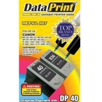 Refill Tinta Suntik Data Print Hitam Black DP 40 DP40 -Printer Canon