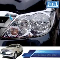 Toyota Fortuner 2008-2010 Garnish Lampu Depan/Head Lamp Garnish Chrome