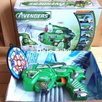 Mainan Pistol Tembakan Soft Bullet Gun Hulk