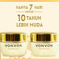 harga Vonvon 24k Gold Night Cream Anti Aging Original Lejel / Von Von Tokopedia.com