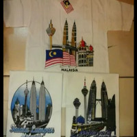 baju oleh negara malaysia kaos souvenir petronas tower menara kembar