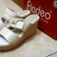 Wedges Fladeo New / Sandal Sepatu Wanita ( Jual rugi )