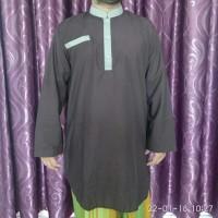 Jual baju muslim pakistan pria polos motif/ gamis ikhwan/koko pria dewasa Murah