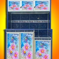 stiker rak 3 pintu bunga