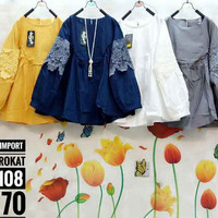 baju blouse blus katun import mix brokat jan