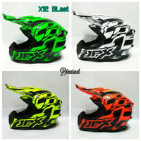 Helm Cross Jpx Full Face Trail Trabas Klx Supermoto X12 Blast