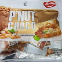 Naraya Peanut Choco cemilan coklat kacang