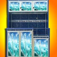 stiker rak piring 3 pintu Frozen