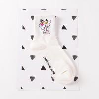 S44 Skate Vans kaos kaki impor Sock Pink Panther - White