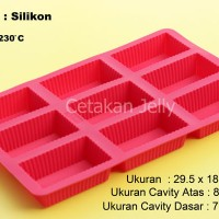 Cetakan Kue / Puding Medium Square Box 9 cav