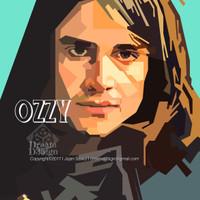 """""""Ozzy Osbourne"""" Souvenir Print Vector Non Frame"""