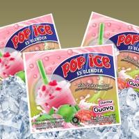 Pop Ice Aneka Rasa Minuman Es Blender 25gr Murah Guava Jambu Biji