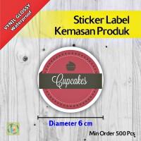 Sticker Label Kemasan Produk | Vynil | Diameter 6 cm