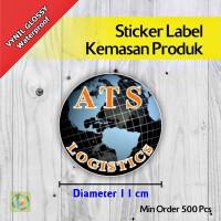 Sticker Label Kemasan Produk | Vynil | Diameter 11 cm