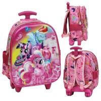 Tas Trolley YK LAMPU + Music Little Pony 5D Timbul Hologram