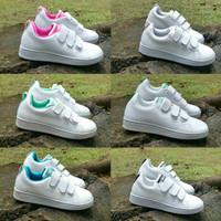 Adidas Neo anak size 28-32 sepatu perekat tanpa tali casual hitam biru