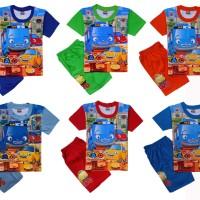 Baju Kaos Atasan T-Shirt Setelan Murah Stelan Anak Laki Tayo TY092117