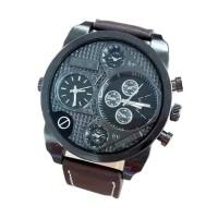 Swiss Army SA 070811AD Dual Time Jam Tangan Pria - Brown Black Best