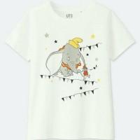Uniqlo Woman Tshirt Soundofdisney Elephant / Kaos Wanita / Baju Wanita