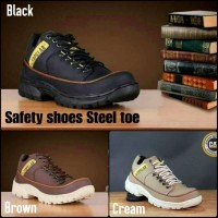 SEPATU PRIA CATERPILLAR MARSHAL SAFETY SHOES LOW BOOTS UJUNG BESI