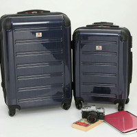 "Koper Swiss Military Hard Case Luggage - 24"" & 20"" - Navy Blue (2 pcs)"